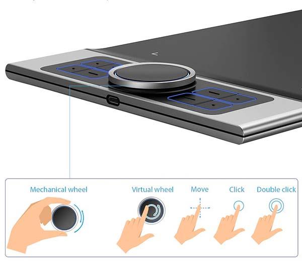 Регулировка сенсорного кольца графического планшета